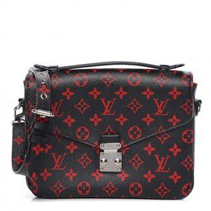 LOUIS VUITTON Infrarouge Pochette Metis bag black